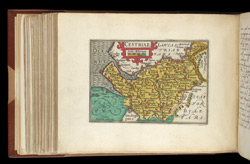 Map of Cheshire, from Atlas of the British Isles, Pieter Van Den Keere